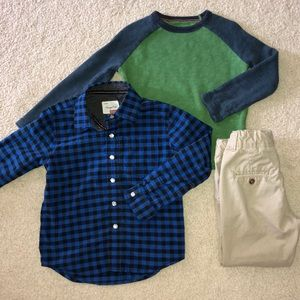 3 pc. BUNDLE BOYS KHAKI PANTS AND SHIRTS 4T